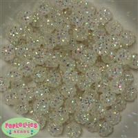12mm Clear Rhinestone Beads