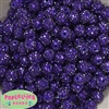 12mm Deep Purple Rhinestone Bubblegum Beads