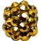 12mm Gold Metallic Rhinestone Bead