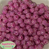 12mm Hot Pink Rhinestone Bubblegum Beads