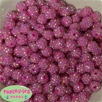12mm Hot Pink Rhinestone Beads