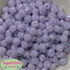 12mm Ice Lavender Rhinestone Bubblegum Beads