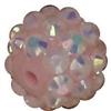 12mm Ice Pink Rhinestone Bubblegum Beads