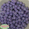 12mm Lavender Rhinestone Bubblegum Beads