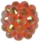 12mm Orange Rhinestone Bead