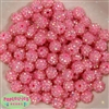 12mm Pink Rhinestone Bubblegum Beads