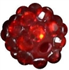 12mm Red Rhinestone Bubblegum Beads