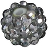 12mm Silver Rhinestone Bubblegum Beads