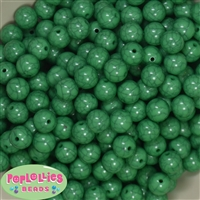 12mm Solid Emerald Crackle Bead 40 pc