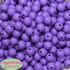12mm Solid Lavender Crackle Bead 40 pc