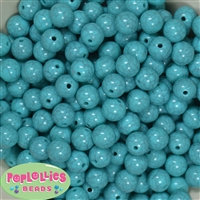 12mm Solid Turquoise Crackle Bead 40 pc