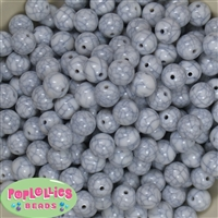 12mm Solid White Crackle Bead 40 pc