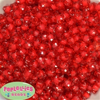 12mm Clear Red Star Shaped Beads 40pc