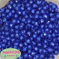 12mm Clear Blue Star Shaped Beads 40pc