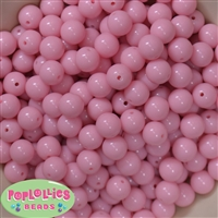 12mm Baby Pink Acrylic Beads 40 pc