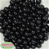 12mm Black Acrylic Bubblegum Beads Bulk