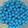 12mm Blue Acrylic Bubblegum Beads