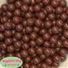 12mm Solid Brown Acrylic Beads 40 pc
