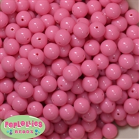 12mm Bubblegum Pink Acrylic Beads 40 pc