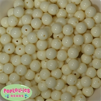 12mm Cream Acrylic Beads