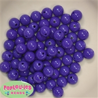 12mm Solid Dark Purple Acrylic Beads 40 pc