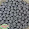12mm Light Gray Acrylic Bubblegum Beads