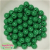12mm Emerald Green Solid Acrylic Bubblegum Beads