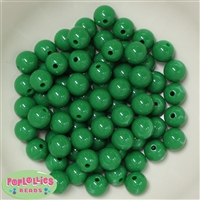 12mm Solid Green Acrylic Beads 40 pc