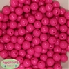 12mm Hot Pink Acrylic Bubblegum Beads