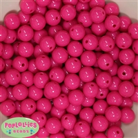 12mm Hot Pink Acrylic Beads 40 pc