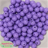 12mm Solid Lavender Acrylic Beads 40 pc