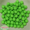12mm Lime Green Acrylic Bubblegum Beads