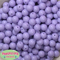 12mm Solid Light Lavender Acrylic Beads 40 pc
