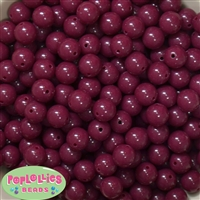 12mm Maroon Acrylic Beads 40 pc