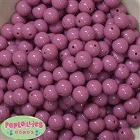 12mm Mauve Pink Acrylic Bubblegum Beads
