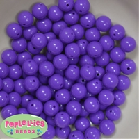 12mm Solid Purple Acrylic Beads 40 pc