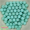12mm Mint Acrylic Beads 40 pc