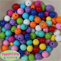 12mm Mix Color Acrylic Bubblegum Beads