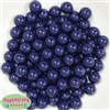 12mm Navy Blue Acrylic Bubblegum Beads