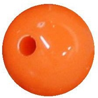 12mm Orange Acrylic Bubblegum Beads