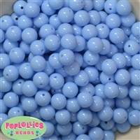 12mm Periwinkle Blue Acrylic Beads 40 pc