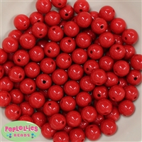 12mm Red Acrylic Bubblegum Beads