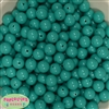 12mm Seafoam Green Solid Acrylic Bubblegum Beads