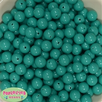 12mm Solid Seafoam Acrylic Beads 40 pc