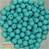 12mm Turquoise Acrylic Beads 40 pc
