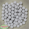 12mm White Acrylic Bubblegum Beads Bulk
