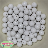 12mm White Acrylic Bubblegum Beads
