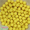12mm Yellow  Acrylic Bubblegum Beads
