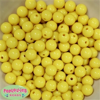 12mm Yellow Acrylic Beads 50 pc