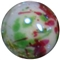 12mm Red and Green Splattered AB Finish Miracle Acrylic Bubblegum Bead